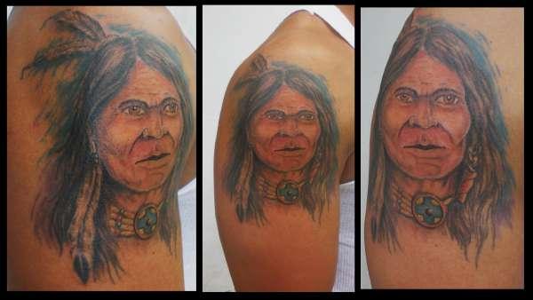 indian warrior tattoo