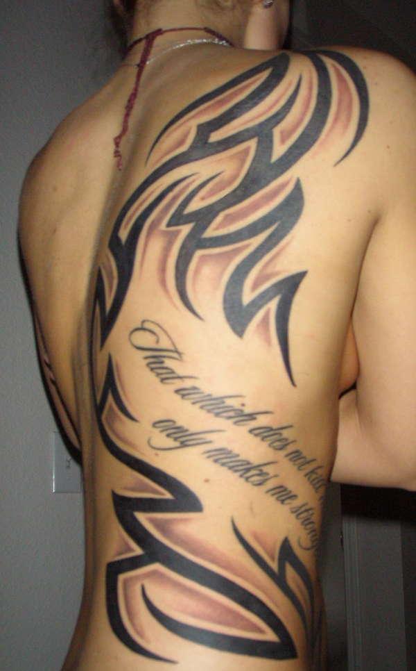Back/Rib tribal tattoo
