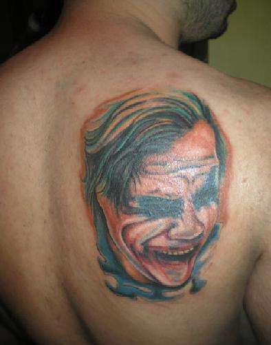 Heath Ledger tattoo