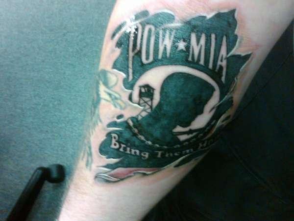 Pow mia underskin tattoo for Pow mia tattoo