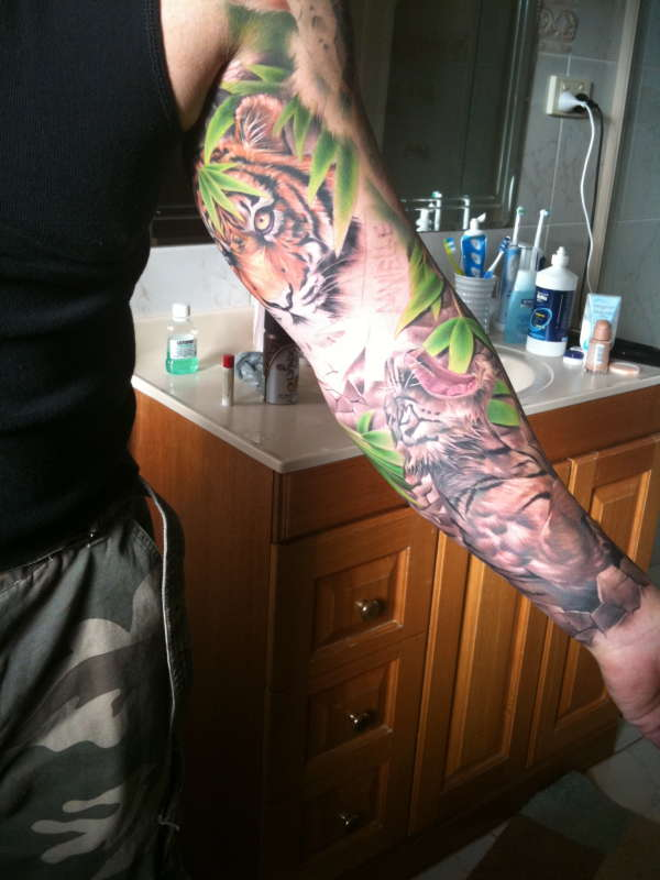 Sleeve Nearly done tattoo