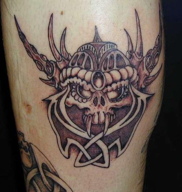 Celtic skull tattoo for Celtic skull tattoo