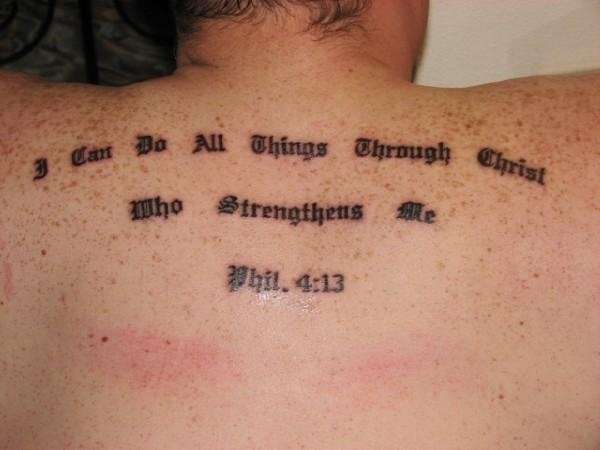 Bible Verse! tattoo