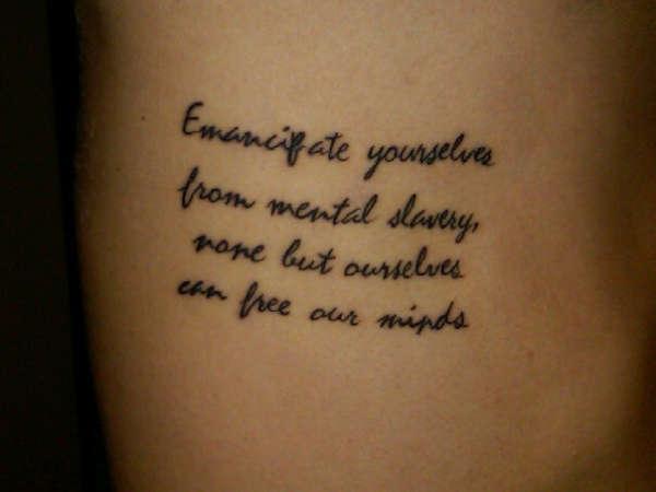 Bob marley rib tat1 tattoo