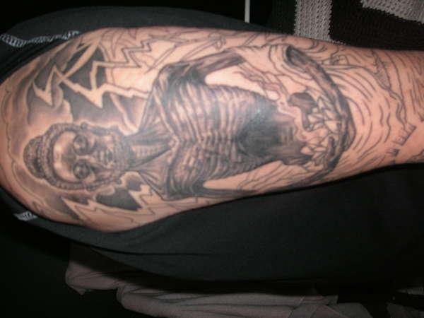 Emaciated Buddha tattoo