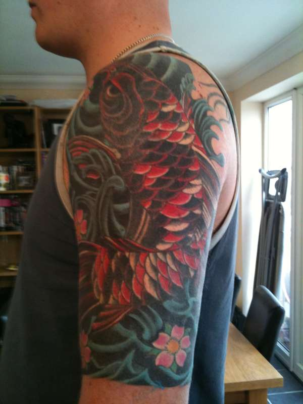 Finished Koi cover up... tattoo