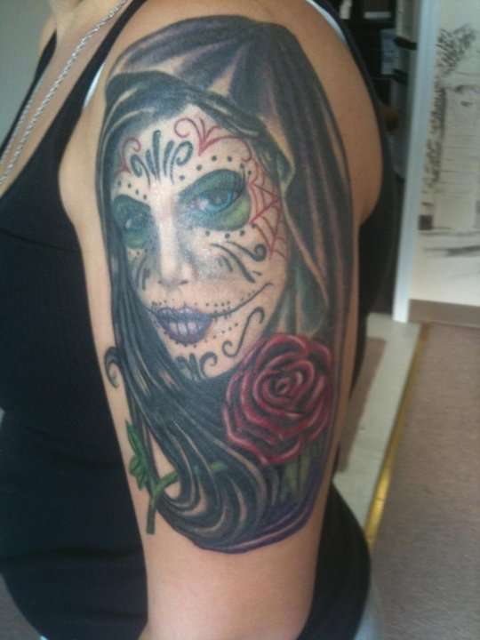 day of the dead  tattoo tattoo