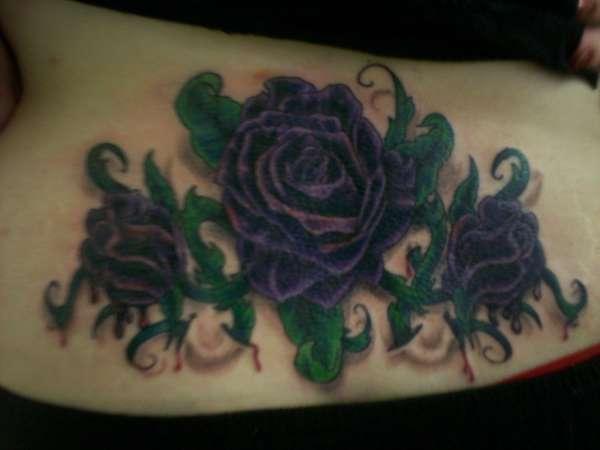 Purple Roses tattoo