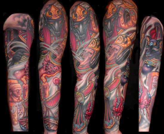 Egyptian Sleeve - FINISHED tattoo