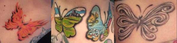 Elemental Butterflies tattoo