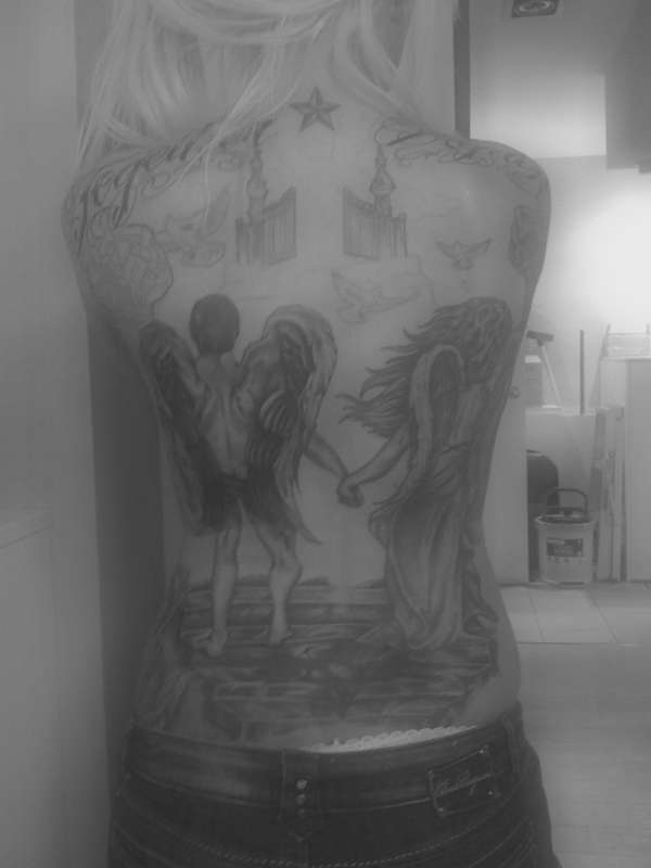 Full Back Piece tattoo