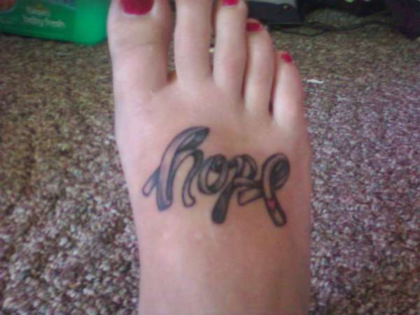 Hope tattoo for Brain Tumors
