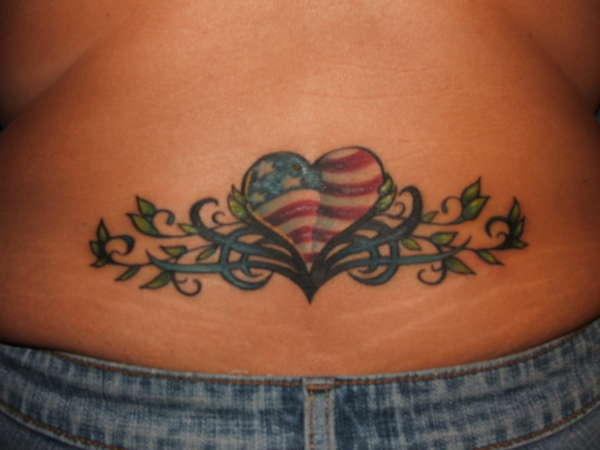 Patriotic Heart tattoo