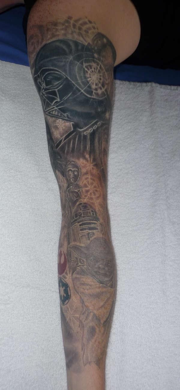 star wars sleeve tattoo. Black Bedroom Furniture Sets. Home Design Ideas
