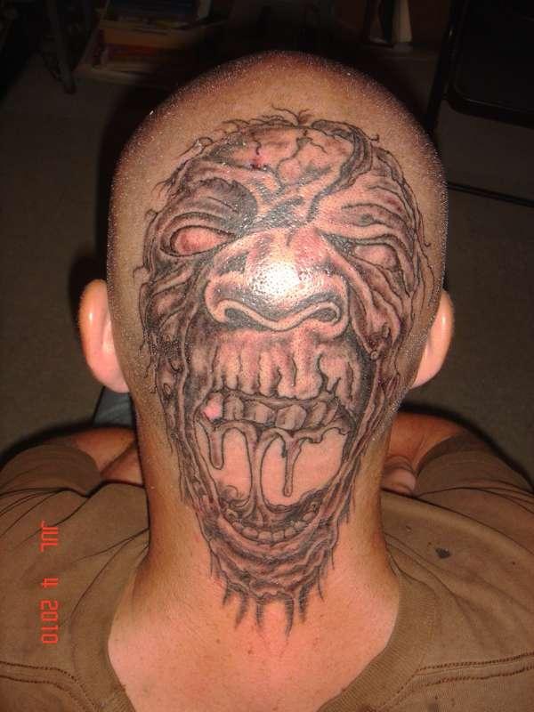brothers head tattoo