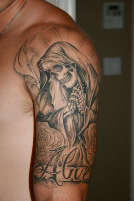 Imágenes De Skeleton Virgin Mary Tattoo Designs