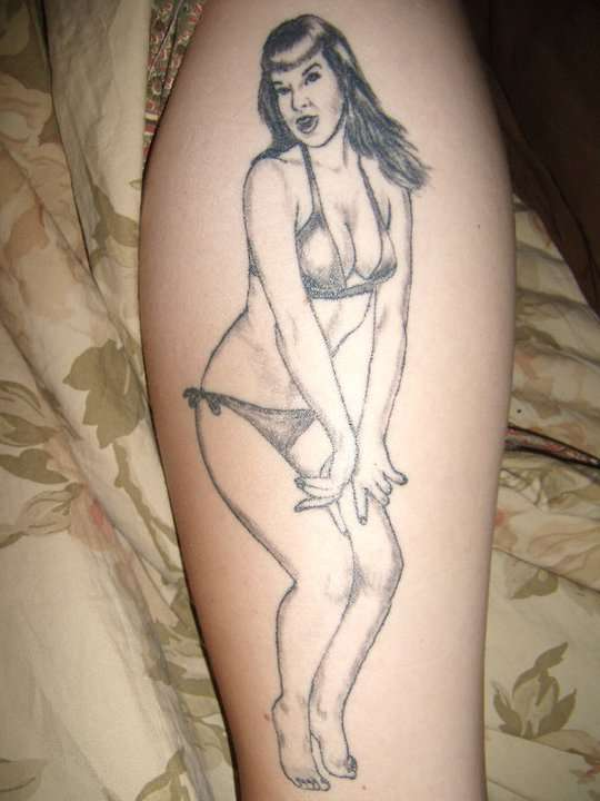 Betty Page tattoo