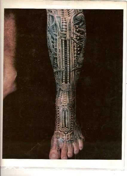 Bio-Mech tattoo
