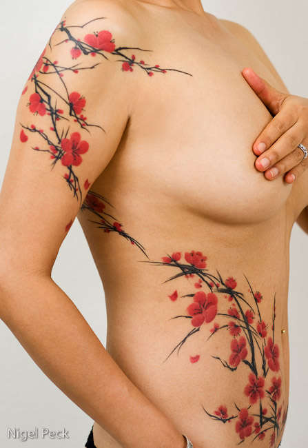Freehand Cherry Blossoms tattoo