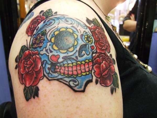 Sugar skull 1 tattoo