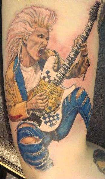 Tattoo By: Larry Brogan - Jennifer Batten tattoo