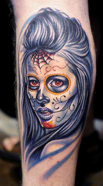 Tattoo By: Nikko - Sugar Skull tattoo