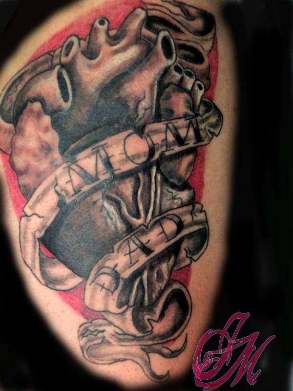 anatomy heart tattoo