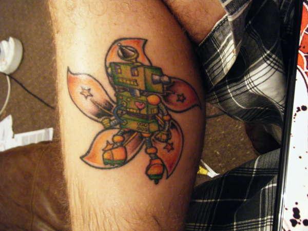 Hong kong robot tattoo for Hong kong tattoo