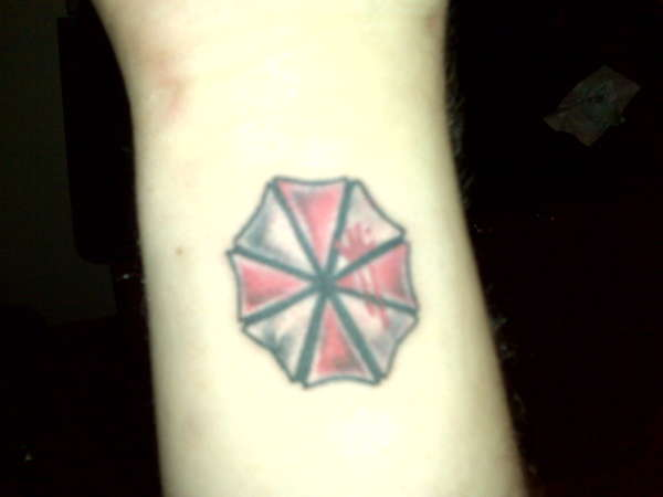 Resident Evil Umbrella Logo tattoo
