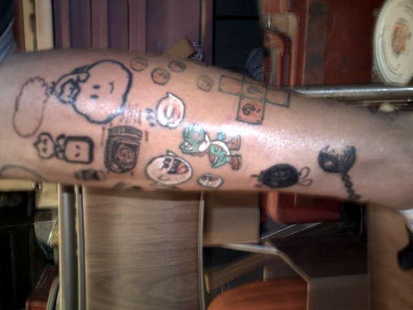 Mario Theme4 tattoo