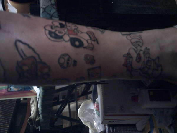 Mario Theme6 tattoo