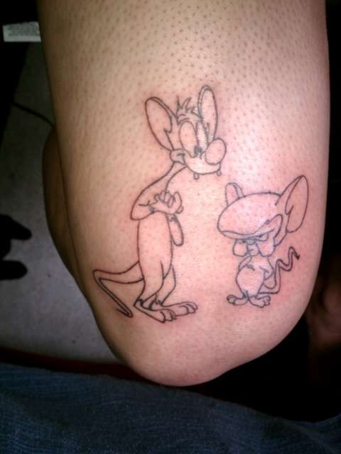 Pinky & the brain tattoo