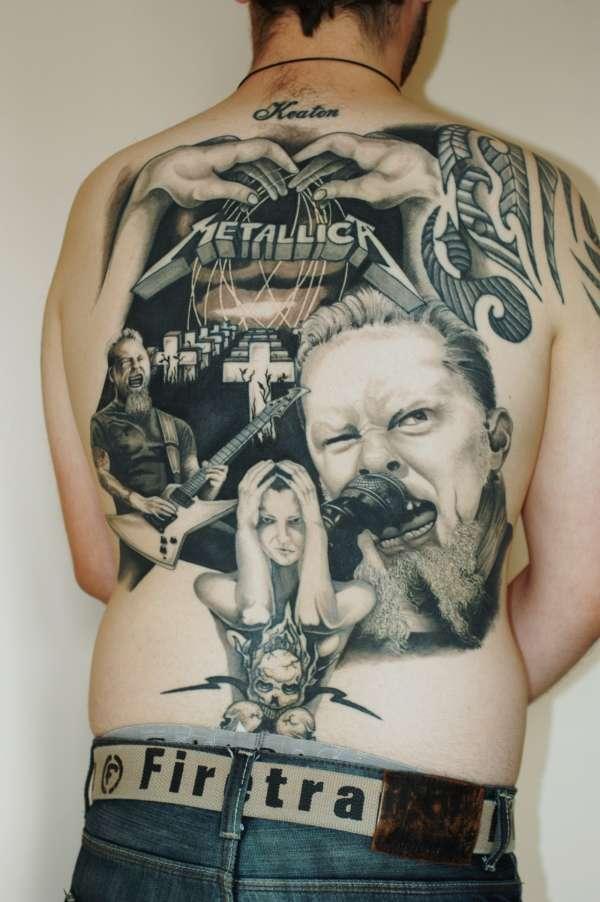 Metallica back piece tattoo for Metallica sleeve tattoo