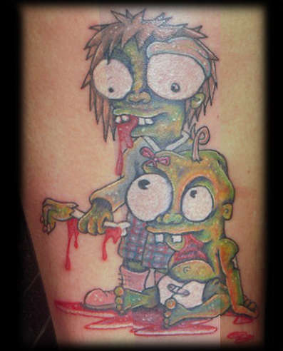 9 zombie tattoo designs and ideas that are best to scare for Little kid tattoos