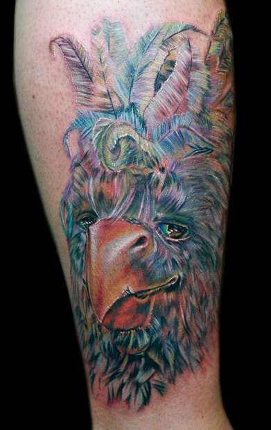 """2nd session """"where the wild things are"""" leg sleeve tattoo"""