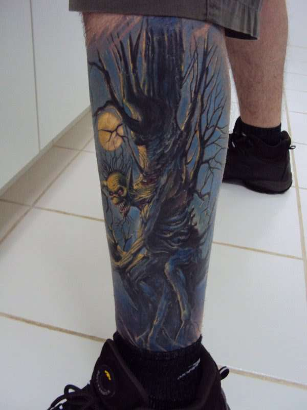 Fear of the Dark - Iron Maiden TATTOO tattoo