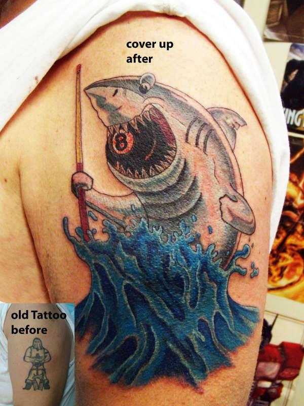 pool shark tattoo