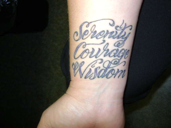 Serenity; Courage; Wisdom tattoo
