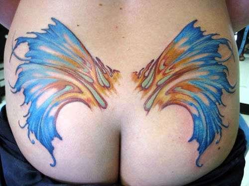 Butt wings tattoo