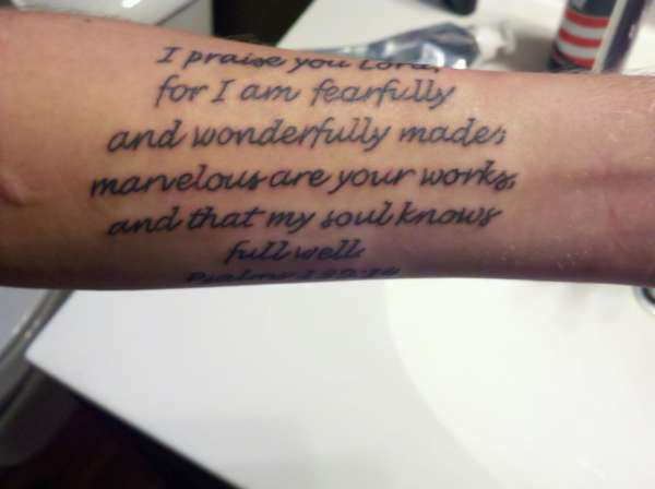 Psalms 139:14 tattoo