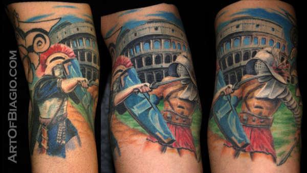 23a1ba1cb Roman Soldier Stabs Gladiator tattoo