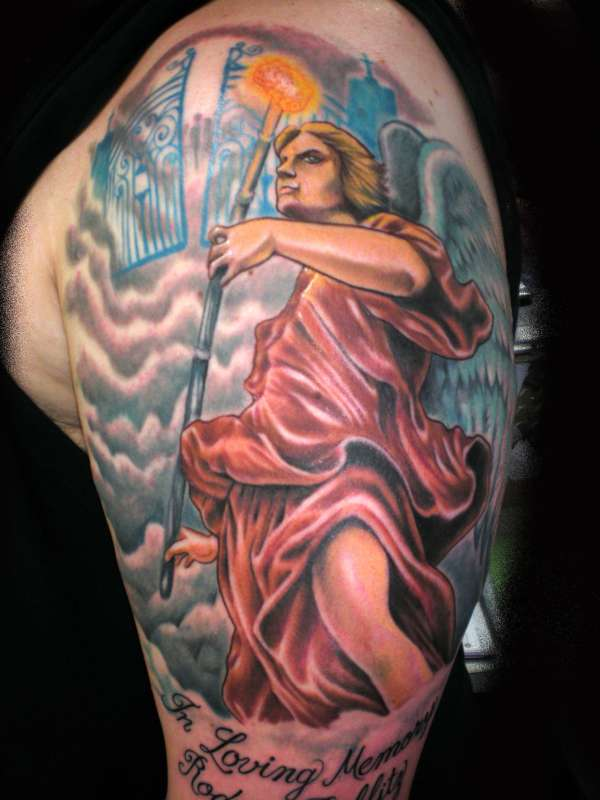 St. Michael by Beto Munoz of Monkeyproink.com tattoo
