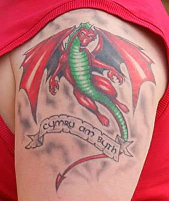 welsh dragon tattoo. Black Bedroom Furniture Sets. Home Design Ideas