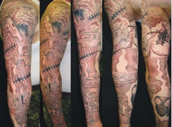 army sleeve tattoo