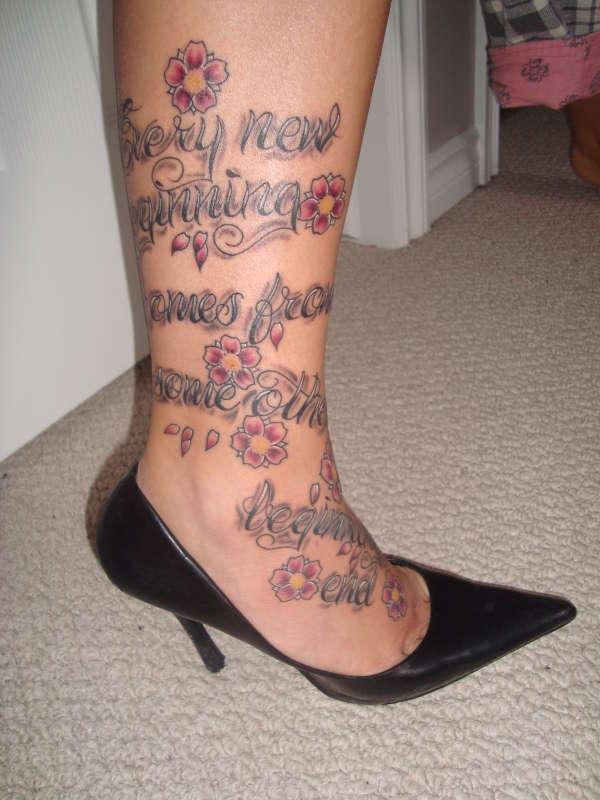 every new beginning... tattoo