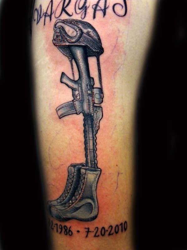 Fallen soldier tattoo for Fallen soldier tattoo