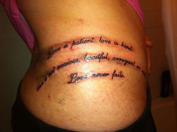 Love Is Patient Love Is Kind Arm Tattoo
