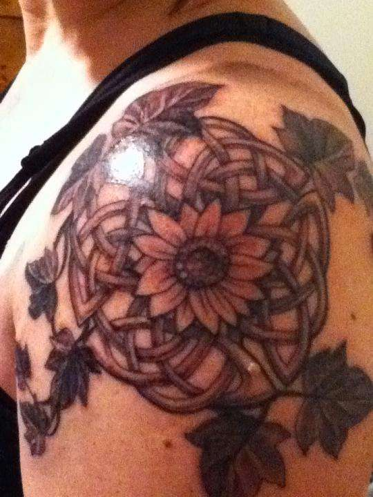 Celtic Knot Sunflower tattoo