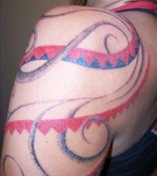 Haida-based quarter-sleeve tattoo
