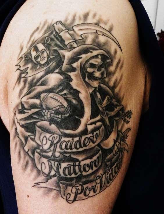 Raider nation por vida tattoo for Raider nation tattoos